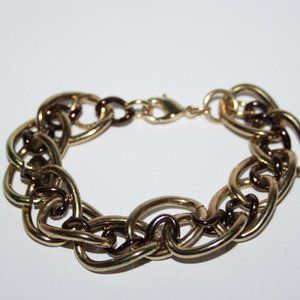 Beautiful chunky gold and copper chain bracelet 7""